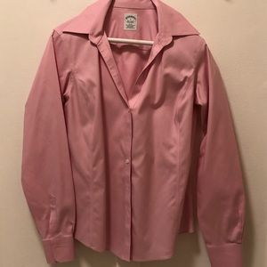 Brooks Brothers non iron fitted blouse pink size 6